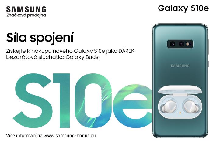 579b6123b K novému Galaxy S10e bezdrátová sluchátka jako dárek!   Futurum HK